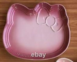 Le Creuset Hello Kitty plate natural pink Rare From Japan Free Shipping