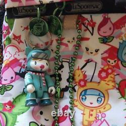 LeSportsac Tokidoki Collaboration Backpack Hand Bag Pink Cactus Charm From Japan