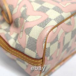 Louis Vuitton Nano Noe Damier Azur Rose Ballerine N60052 #52658 from Japan