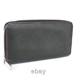 Louis Vuitton Zippy Wallet Epi Leather Black/Hot Pink M64838 #52392 from Japan