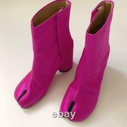 Maison Margiela Tabi Boots Shoes Neon Pink Silk Satin Women's EU 36 From Japan