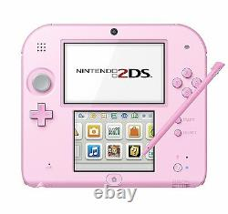 NEW Nintendo 2DS pink with 3DS Adapter 100-120V Shipping from JAPAN