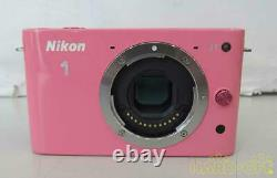 Nikon 1 J1 Pink with 10-30mm Standard Lens Kit From Japan