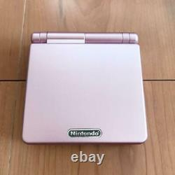 Nintendo Game Boy Advance SP Pearl Pink Handheld System from Japan