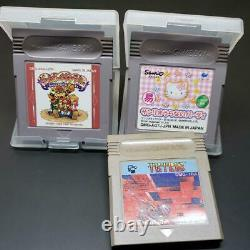 Nintendo Game Boy Pocket Hello Kitty Console With 3 Software from Japan