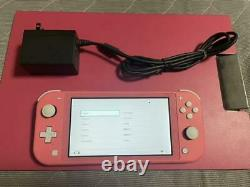 Nintendo Switch Lite Hand-Held Gaming Console Coral HDH-001 From Japan