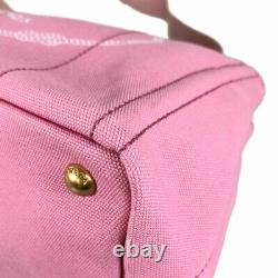PRADA Canapa 2WAY Cross Body Pink 1BG439 GERANIO BIAN canvas Tote Bag from Japan