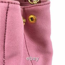 PRADA Canapa 2WAY Shoulder 1BG439 GERANIOxBIANCO Pink x White Bag from Japan