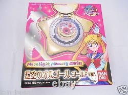 Pretty Guardian Sailor Moon Star Locket Music Box Gold Pink from Japan F/S