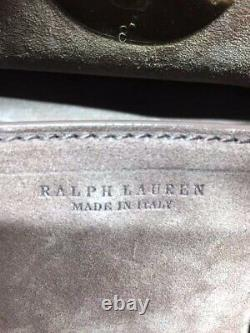 RALPH LAUREN Authentic Soft Ricky Shoulder Bag Cross Body Bag Used from Japan