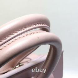 Ralph Lauren Authentic Ricky 2 Way Shoulder Bag Handbag Pink Used from Japan