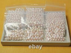 S 8-8.5mm HANADAMA Genuine Rare Akoya Pearl Pink From Japan Wholesale loose 2pc