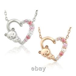 SAN-X necklace Rilakkuma Bear Sweet Heart Adult Ladies from Japan a0913