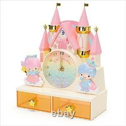 Sanrio Little Twin Stars Clock with Chest Drawer Pink F/S from Japan Cute NEW