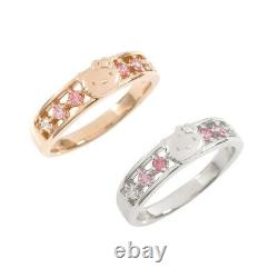 Sanrio Ring Hello Kitty Pink Rainbow Ladies from Japan a0913