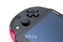 Sony PS Vita Pink Black Slim PCH-2000 with Charger and Box From Japan Excellent
