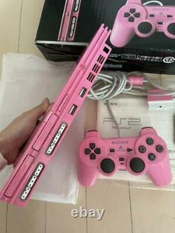 Sony PS2 PlayStation 2 Slim Pink Japanese NTSC-J SCPH-77000 From Japan Import