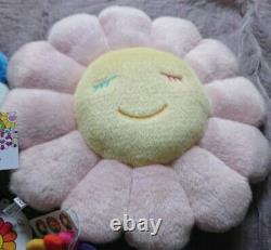 Takashi Murakami Light Pink Flower Cushion Pillow 30cm KaikaiKiki From Japan FS