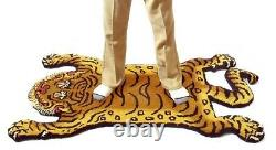 Tibetan Tiger Rug DTTR-02 M size W75XD130XH1.8cm PINK New from Japan F/S Fedex