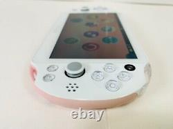 Used PS Vita Light Pink White PCH 2000 ZA19 Console with Charger from Japan