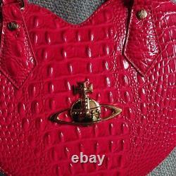 VIVIENNE WESTWOOD Heart Orb Tote Hand Shoulder Bag Dark Pink Women's From Japan