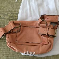 VIVIENNE WESTWOOD Shoulder Bag Orb Embossing Stripe Pink Beige Tone From Japan
