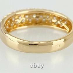 Van Cleef & Arpels 18K Pink Gold (750) Diamond Pave 49 Cleaned ring from Japan