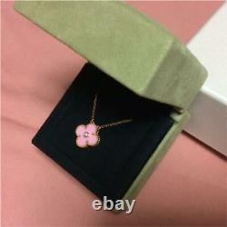 Van Cleef & Arpels 2015 Christmas Alhambra Pendant Necklace Pink from Japan F/S