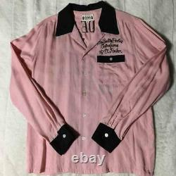 WACKO MARIA 50's Shirt Bullfighter Long Sleeve Pink Size-S Used from Japan F/S