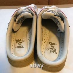 A Bathing Ape Bapesta Slip-on Sneaker Shoes Gris Rose Us8 Utilisé Du Japon F/s