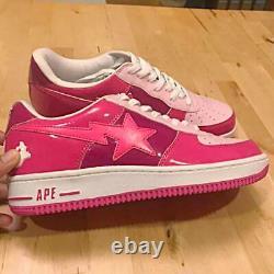 A Bathing Ape Bapesta Sneaker Shoes Bas Rose Us9.5 Utilisé Du Japon F/s