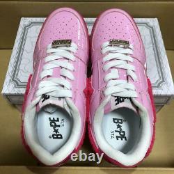 A Bathing Ape Bapesta Sneaker Shoes Pink Enamel Us6.5 Utilisé À Partir Du Japon F/s
