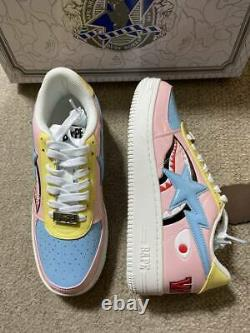 A Bathing Ape Bapesta Sneakers Low Pink Us 9 Never Used From Japan F/s