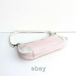 Auth Burberry Horse Logos Pouch Sac À Bandoulière Pink White Vintage From Japan