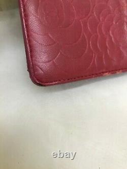 Auth Chanel Camelia Type Poussoir Peau D'agneau 13385724 Du Japon Gf068
