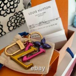 Auth Louis Vuitton LV Logo Keyring Bag Charm Pink/gold Utilisé À Partir Du Japon F/s