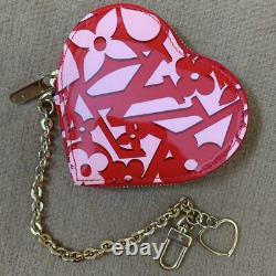 Auth Louis Vuitton Vernis Logo Heart Coin Purse Case Limited New From Japan F/s