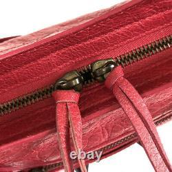Balenciaga Classic Mini City 300295 Cuir Rose Sac À Main Pour Femme Du Japon