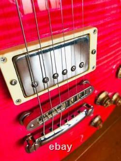 Burny Les Paul Type Guitare Électrique Bateau Rose Du Japon 0906
