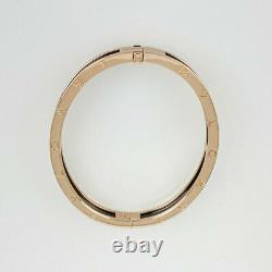 Bvlgari 18k Or Rose (750) Bracelet Bangle En Céramique M Taille Du Japon
