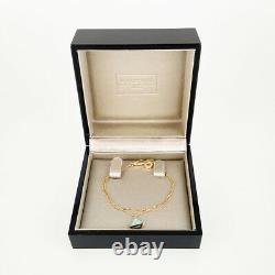 Bvlgari Diva Dream Or Rose 18k (750) Bracelet Turquoise Sm 6.1 Du Japon