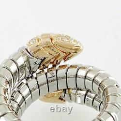 Bvlgari Serpenti Acier Inoxydable Or Rose 18k (750) Bague Diamant Du Japon