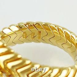 Bvlgari Spiga 18k Yellow Gold (750) Améthyste Pink Tourmaline (51) Du Japon