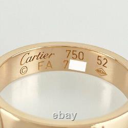 Cartier 18k Or Rose 750 Joyeux Anniversaire 52 Nettoyé Bague Du Japon