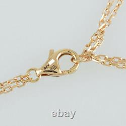 Cartier Cercle D'amour Or Rose 18k (750) Collier Diamant De Japon