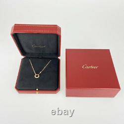 Cartier Cercle D'amour Or Rose 18k (750) Collier Diamond 2pd Du Japon