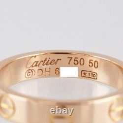 Cartier Mini Amour 18k Pink Gold (750) 50 Bague Nettoyée Du Japon