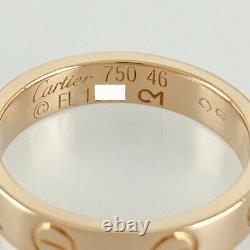 Cartier Mini Amour 18k Pink Gold (750) Bague Nettoyée Du Japon
