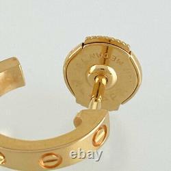 Cartier Mini Amour Or Rose 18k(750) Boucle D'oreille Du Japon