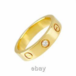 Cartier Mini Amour Or Rose 18k (750) Diamant 1p No. 9 (49) Bague En Provenance Du Japon